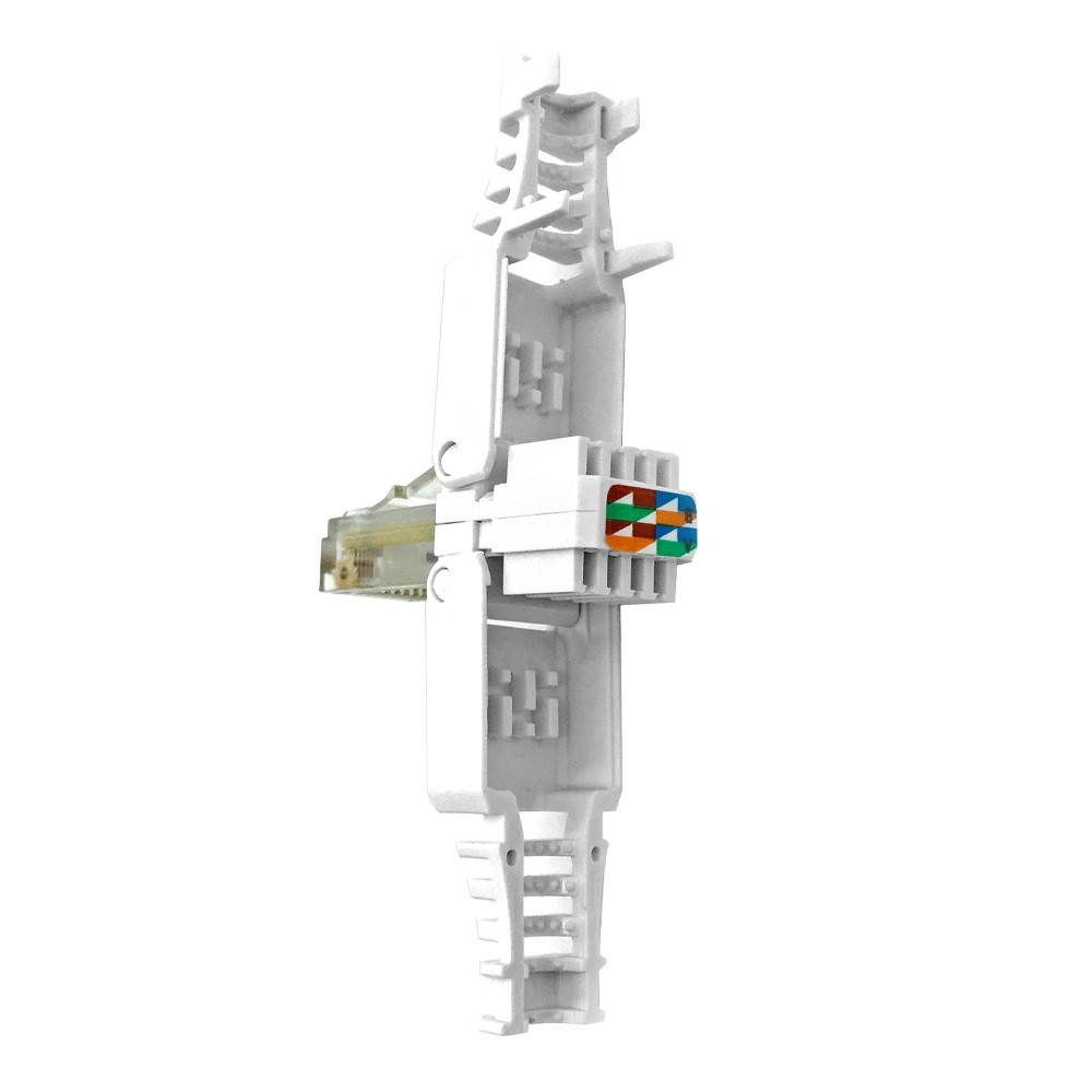 RJ45-Netzwerkstecker für Cat6, Cat6a, Cat5e, werkzeugfrei, einfache Montage