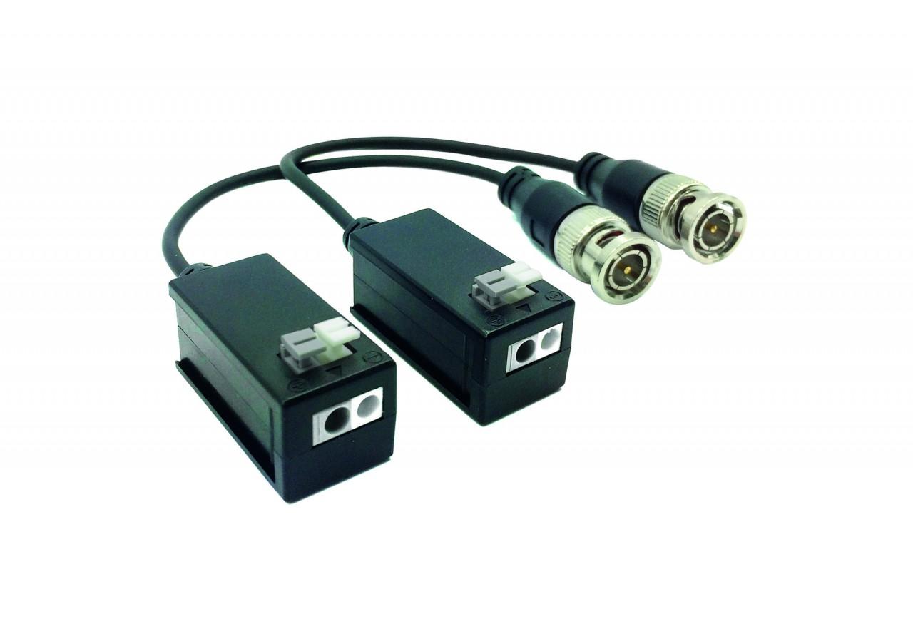 TURM HDCVI Passiv Balun Paar für Videoüberwachung von 2- Draht auf BNC, Max. 200m