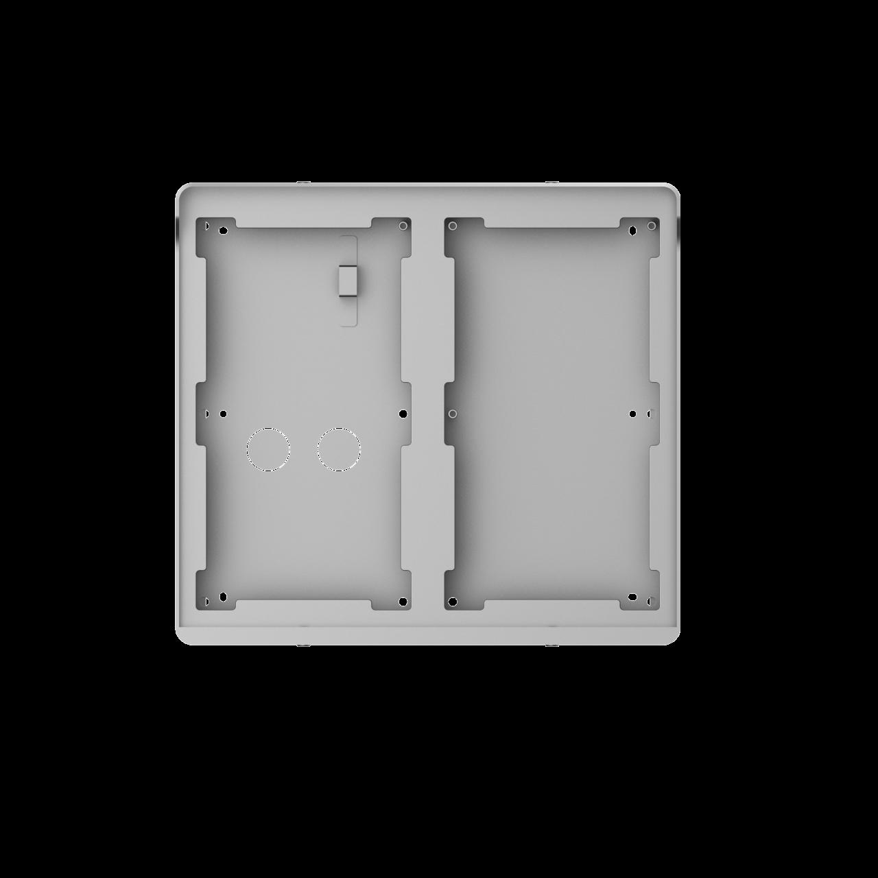 TURM IP Video Türsprechanlage Aufputz Montagerahmen für zwei modularen Außenstationen mit zwei Modul