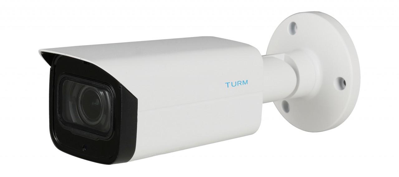 TURM IP Professional 4 MP Bullet Kamera mit 60m Nachtsicht, Motorzoom, PoE und WDR