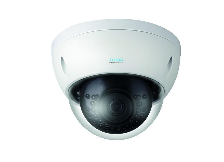 TURM IP Lite 2 MP Dome Kamera mit 30m Nachtsicht und 104° Weitwinkel Objektiv, H265, PoE, Ovif