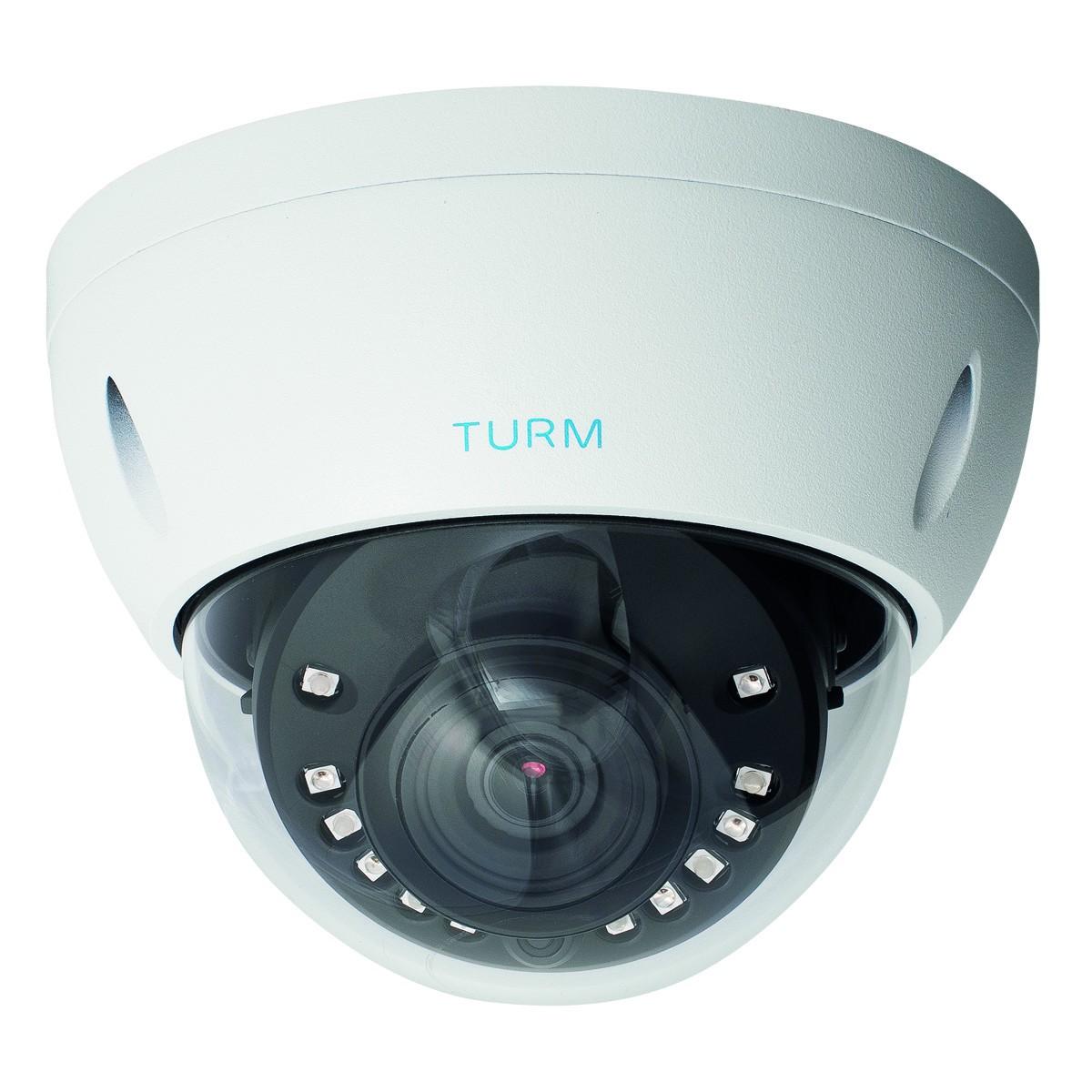 TURM HDCVI Professional 4,1 MP Dome Kamera, 30m Nachtsicht, 2.8mm Objektiv mit 100° Blickwinkel und