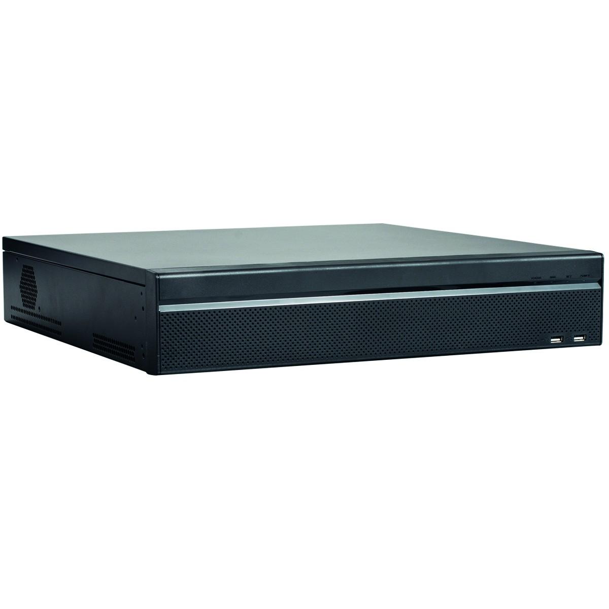 "4K NVR Rekorder, 32 Kanal, 16x PoE bis 12 Megapixel, 320 Mbps, 19"" Gehäuse 1.5HE, Quad Core, 4x SATA"