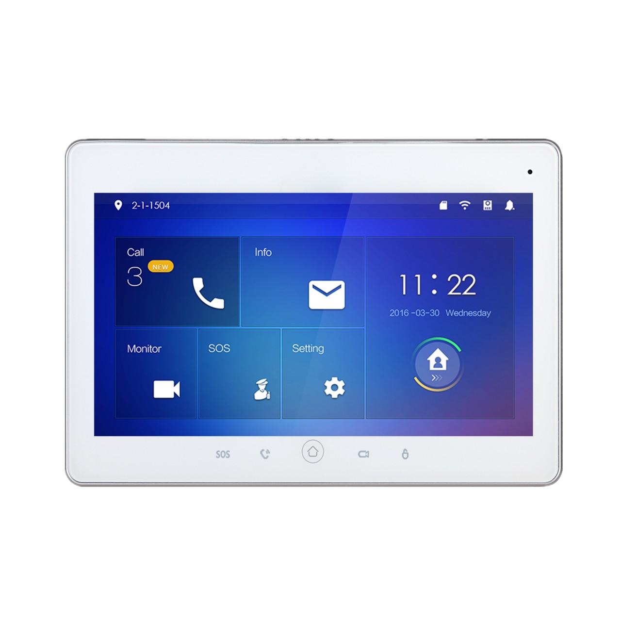 "TURM IP Video Türsprechanlage 7"" LCD Touchscreen WLAN Monitor Innenstation"