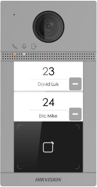 Hikvision Video Türsprechanlage Aussenstation für Zweifamilienhaus mit 2MP und 129° Sichtwinkel, PoE