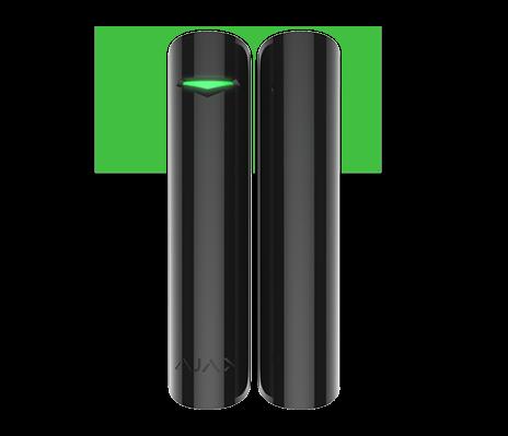 AJAX DoorProtect Plus Öffnungsmelder mit Erschütterungsmelder und Neigungssensor Schwarz (HAN 9996)