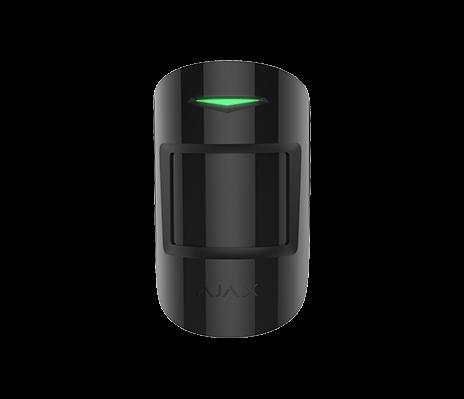 AJAX MotionProtect Plus Bewegungsmelder mit Mikrowellensensor Schwarz (HAN 8220)