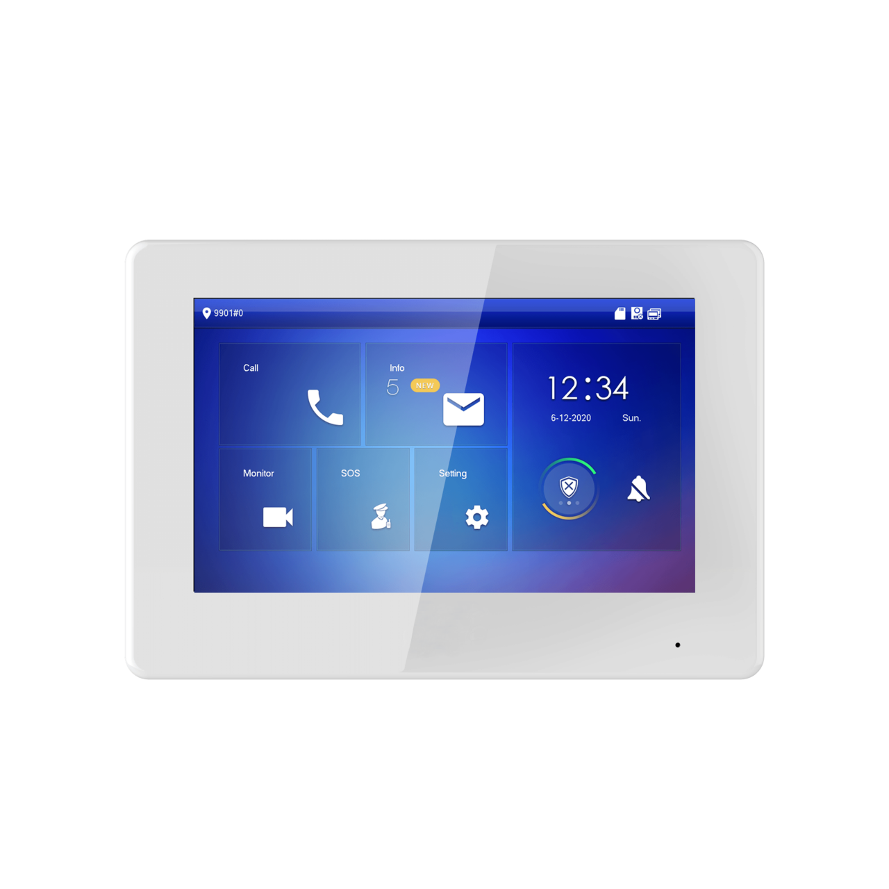 "TURM IP Video Türsprechanlage 7"" LCD Touchscreen Hybrid Monitor Innenstation 2Draht + PoE"