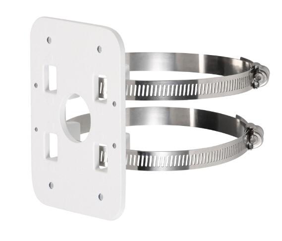 TURM Masthalterung für Überwachungskameras mit 2 Montageschellen, Belastbarkeit bis 3 kg