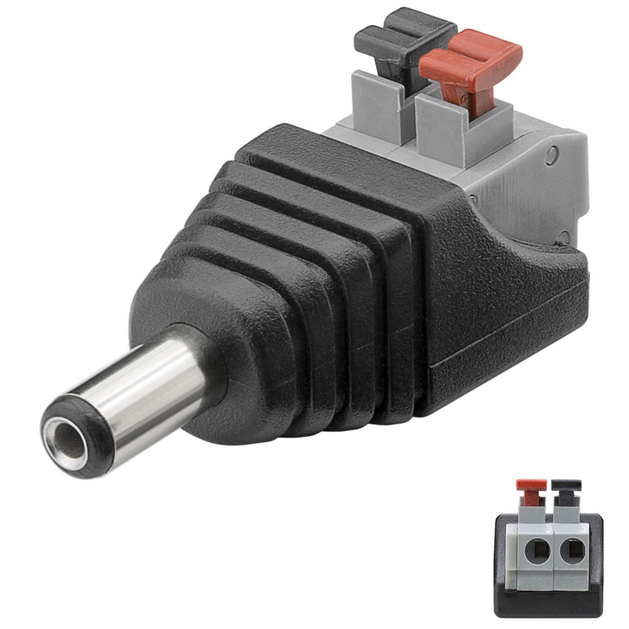 DC-Stecker für Stromanschluss, Niedervoltbuchse, Klemmanschluss