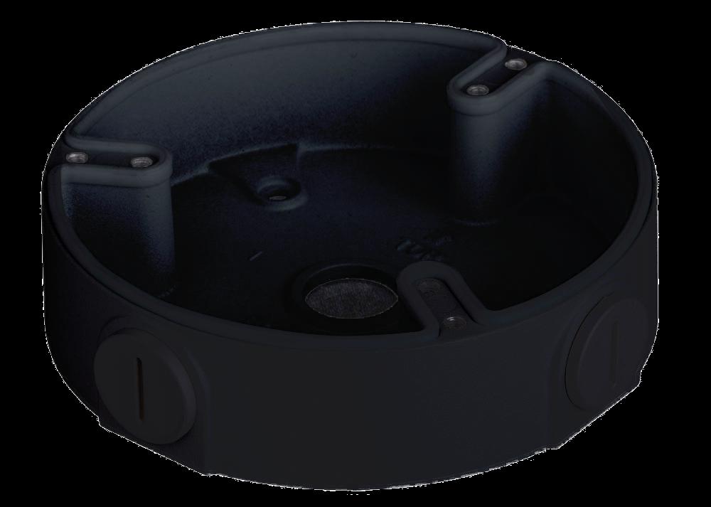 TURM Anschlussbox für mittelgroße Dome Kameras zur Wand- und Deckenmontage, schwarz