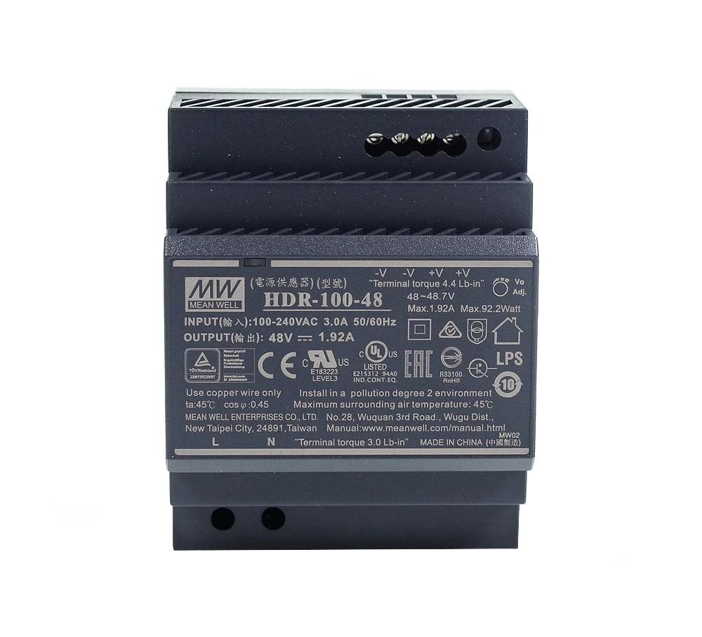 Schaltnetzteil DC, 48V, 1.92A, für DIN Hutschiene für IP-Draht Module etc.