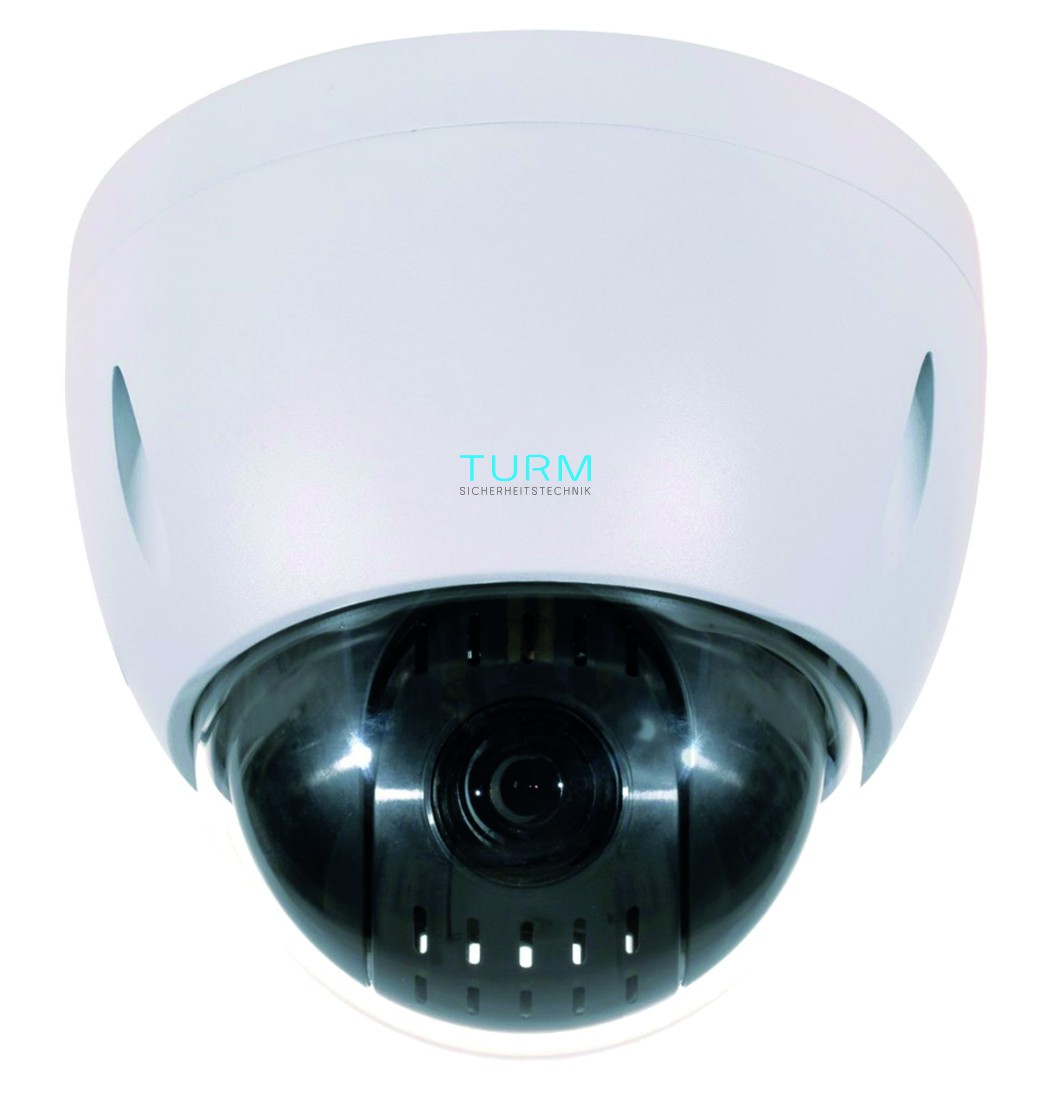 TURM IP Professional 2 MP PTZ Dome Kamera mit 12x Zoom, 0.005 LUX Starlight und PoE+