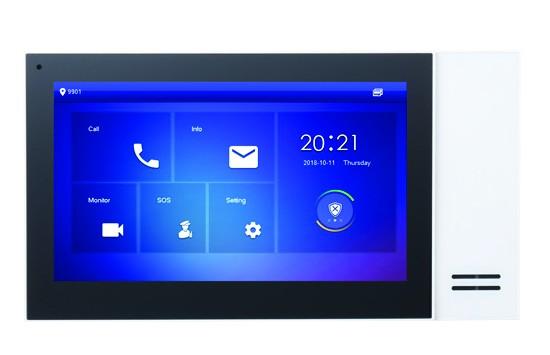 """TURM IP Video Türsprechanlage 7"""" LCD Touchscreen Monitor mit PoE in weiß"""