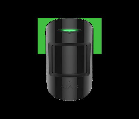 AJAX CombiProtect Bewegungs und Glasbruchmelder - schwarz