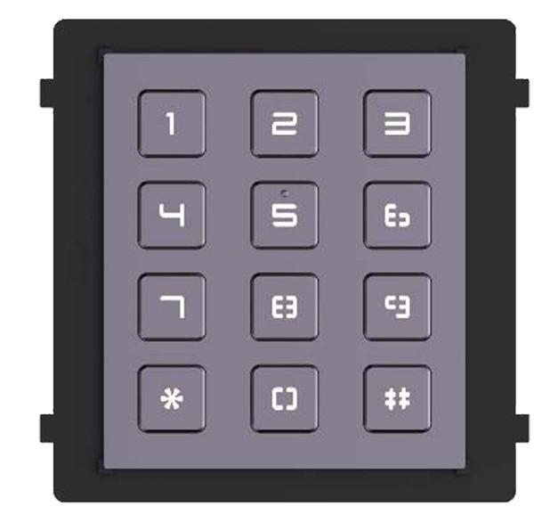 Hikvision Türsprechanlage Tastenfeld Modul für die Aussenstation mit Hintergrundbeleuchtung