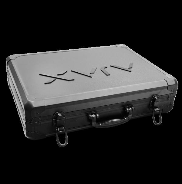 Präsentationskoffer für AJAX Produkte, ohne Inhalt, mit AJAX Logo