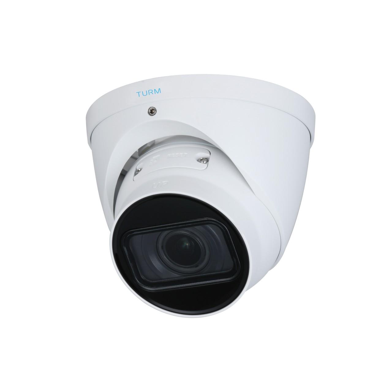 TURM IP Professional 8 MP Dome Kamera, 40m Nachtsicht mit Starlight, 2.7mm–13.5mm Motorzoom Objektiv