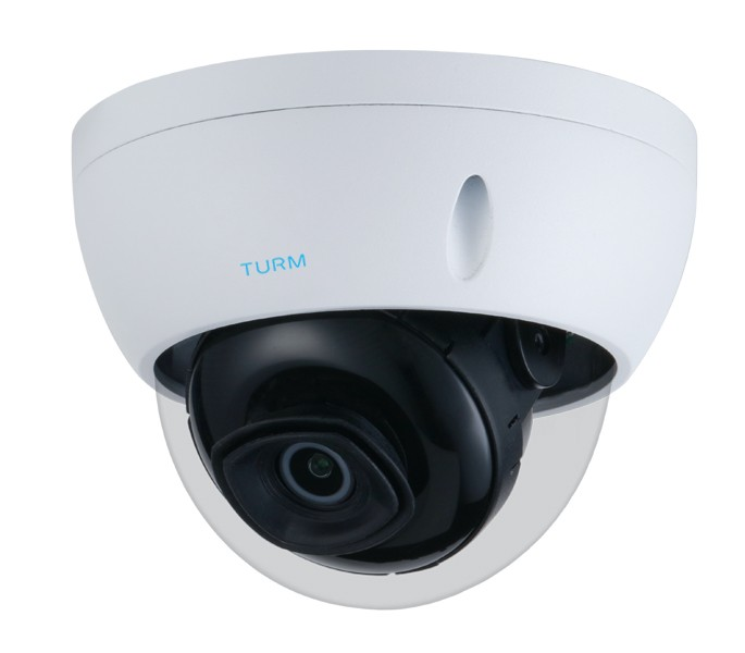TURM IP Lite 4 MP Dome Kamera mit 30m Nachtsicht, 104° Blickwinkel, WDR, PoE und H.265