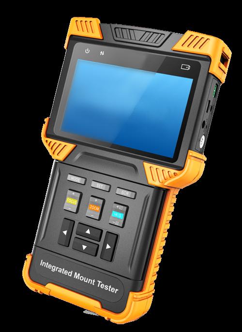 TURM Testgerät für IP Kameras bis 12 MP, HDCVI, TVI, AHD und Analog bis zu 4 MP, ONVIF, 8GB, PoE