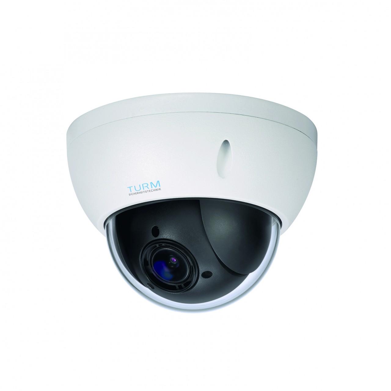 TURM IP Professional 2 MP PTZ Dome Kamera mit 4x Zoom, Micro SD, PoE und Onvif
