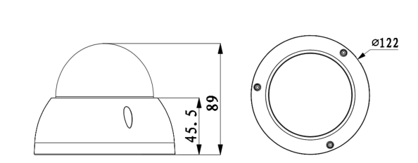 TURM IP Professional 4 MP Dome Kamera mit 40m Nachtsicht, Starlight und 2.7-13.5 mm Motorzoom