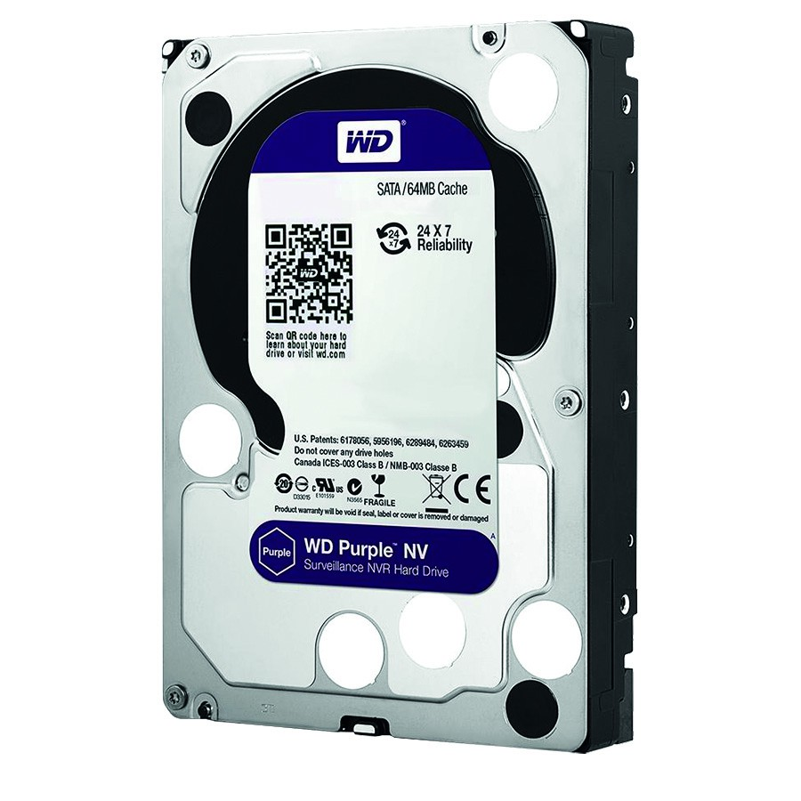 "WD Purple 4 TB Festplatte für 24/7 Videoüberwachung 3,5"", 5400 U/min, WD40PURZ"