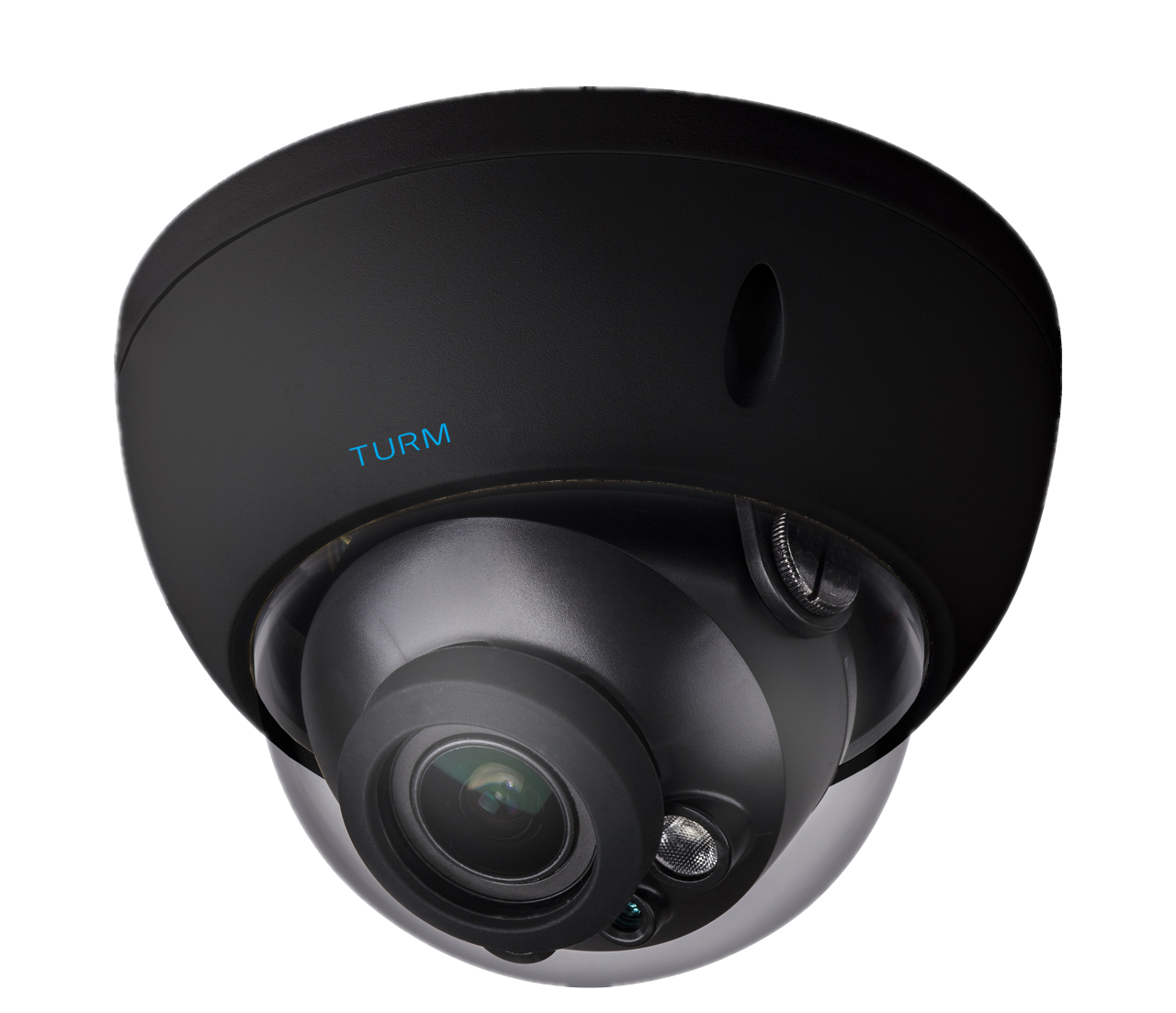 TURM IP Professional 4 MP Dome Kamera mit 40m Nachtsicht und 2.7-13.5 mm Motorzoom, Farbe schwarz