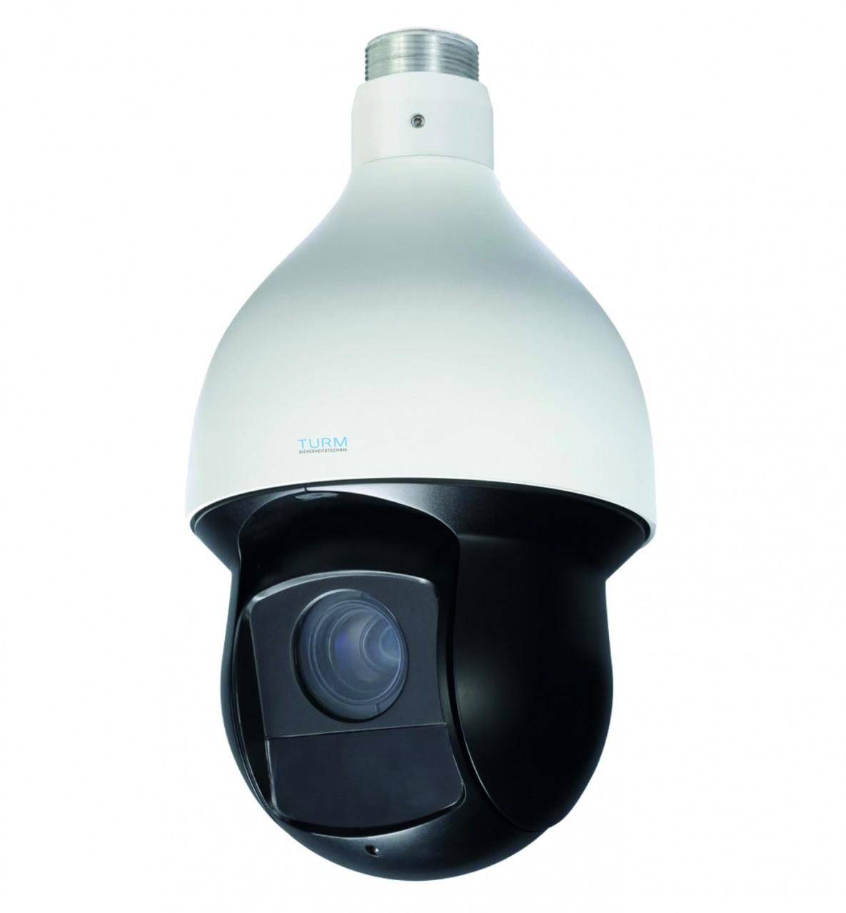 TURM IP Professional 4 MP PTZ Kamera mit Auto Tracking, Intelligentem Videosystem, 30x Zoom und 100m