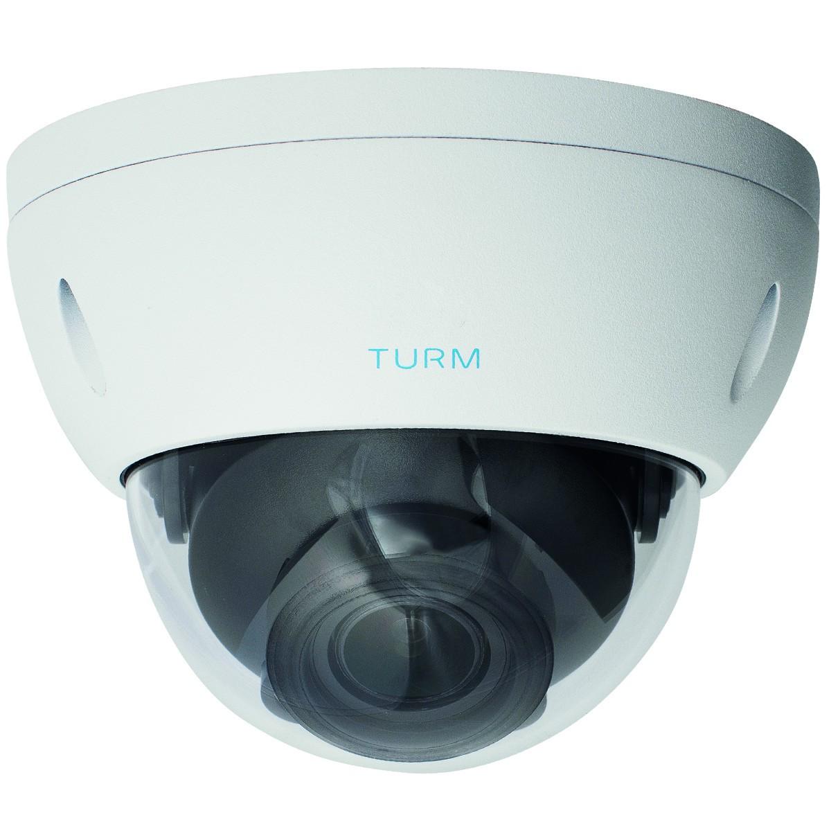 TURM HDCVI Ultra 8 MP 4K Dome Kamera, 30m Nachtsicht mit Starlight und Motorzoom bis 112° Weitweinke