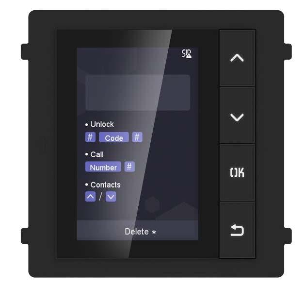 """Hikvision Türsprechanlage 3,5"""" LCD Anzeigemodul für die Aussenstation, bis zu 500 Teilnehmer"""