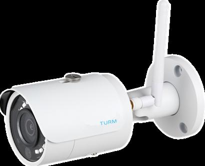 TURM WLAN 4 MP IP Bullet Kamera mit 101°, 2.8mm, Micro SD Slot, 30m Nachtsicht inkl. Netzteil