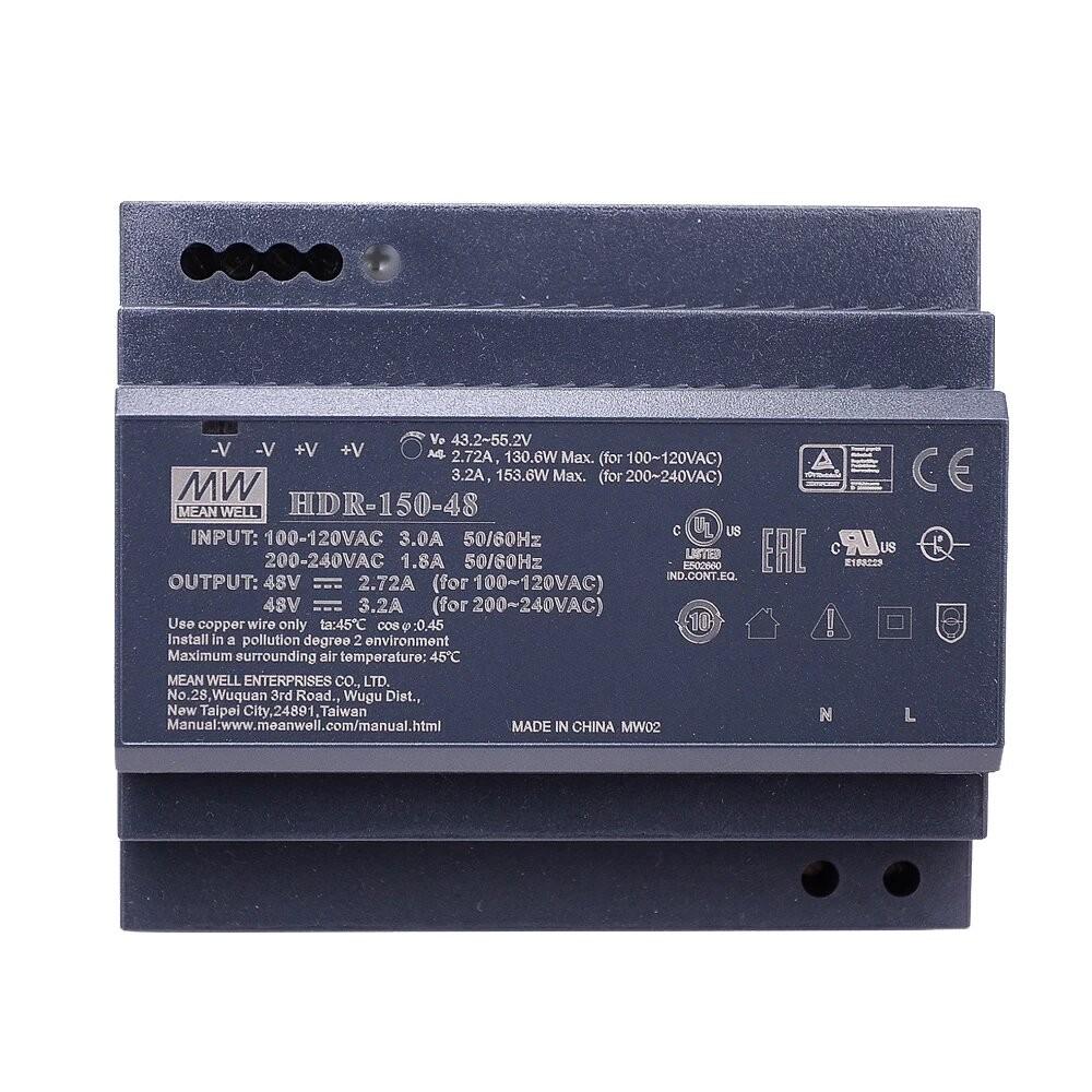 Schaltnetzteil DC, 48V, 3.2A, für DIN Hutschiene für IP-Draht Module etc.