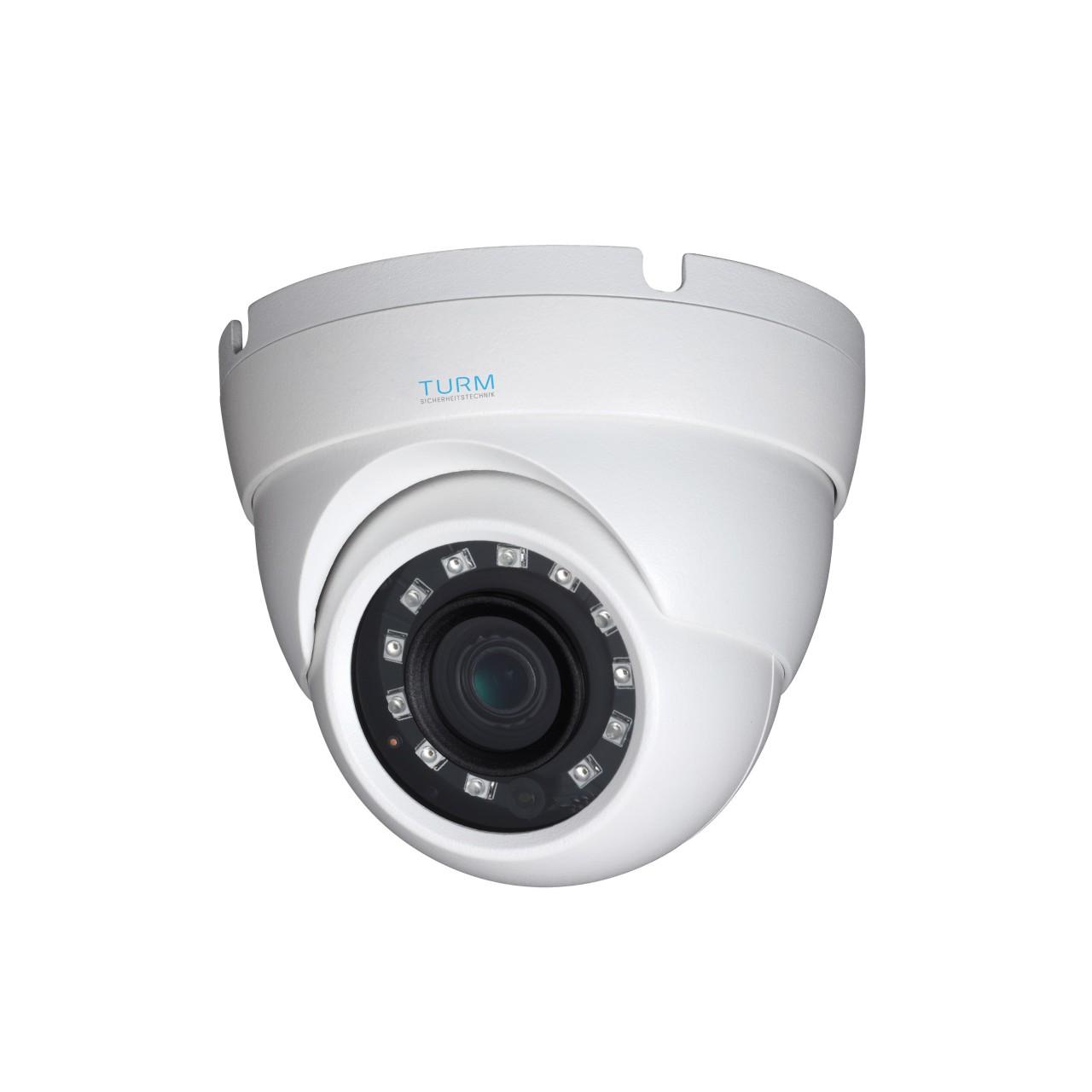 TURM HDCVI Lite 2 MP Dome Kamera mit 30m Nachtsicht, 2,8mm Objektiv mit 103° Weitwinkel