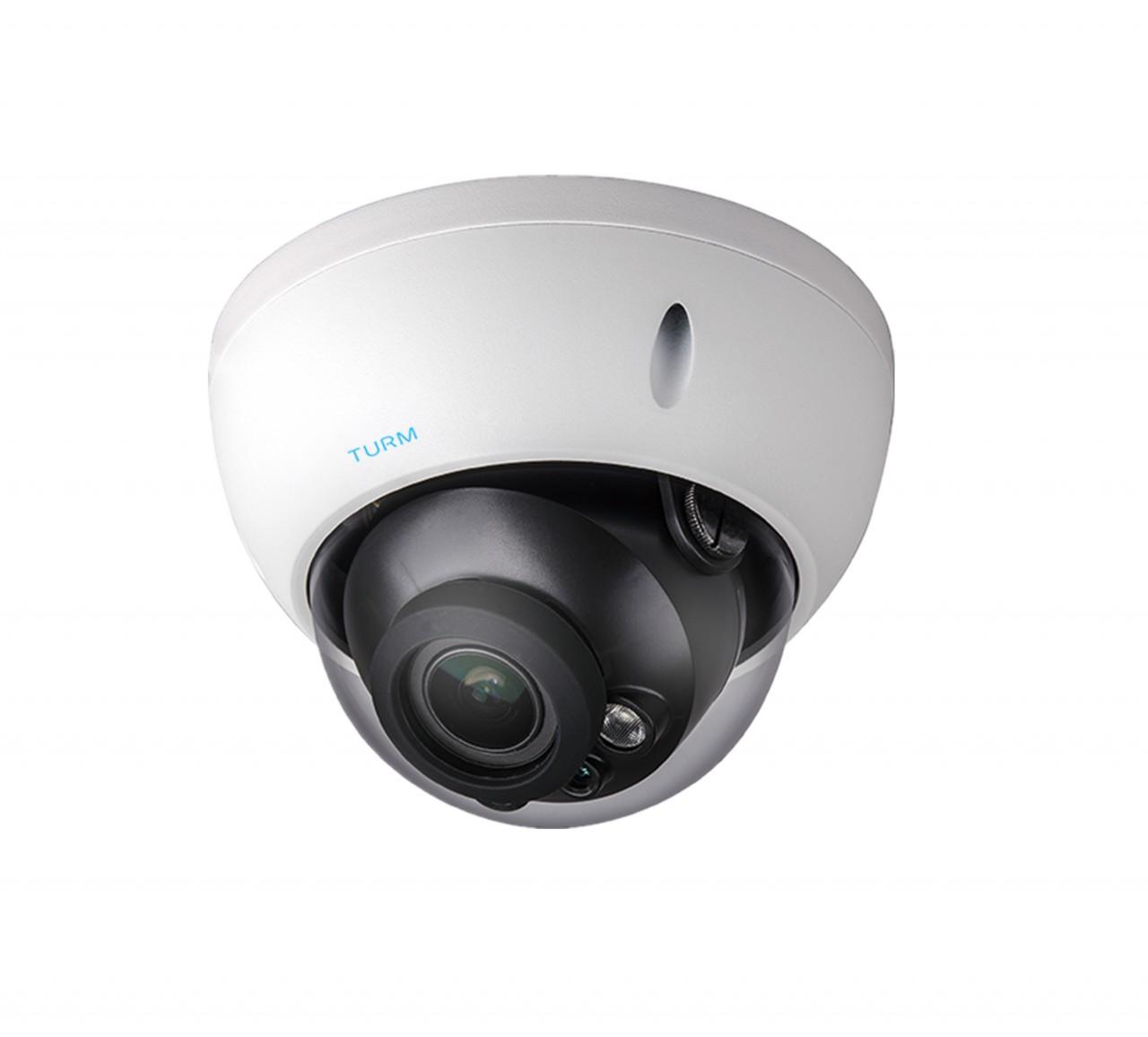 TURM HDCVI Lite 4 MP Dome Kamera, 30m Nachtsicht, 2.7-12mm Motorzoom Objektiv