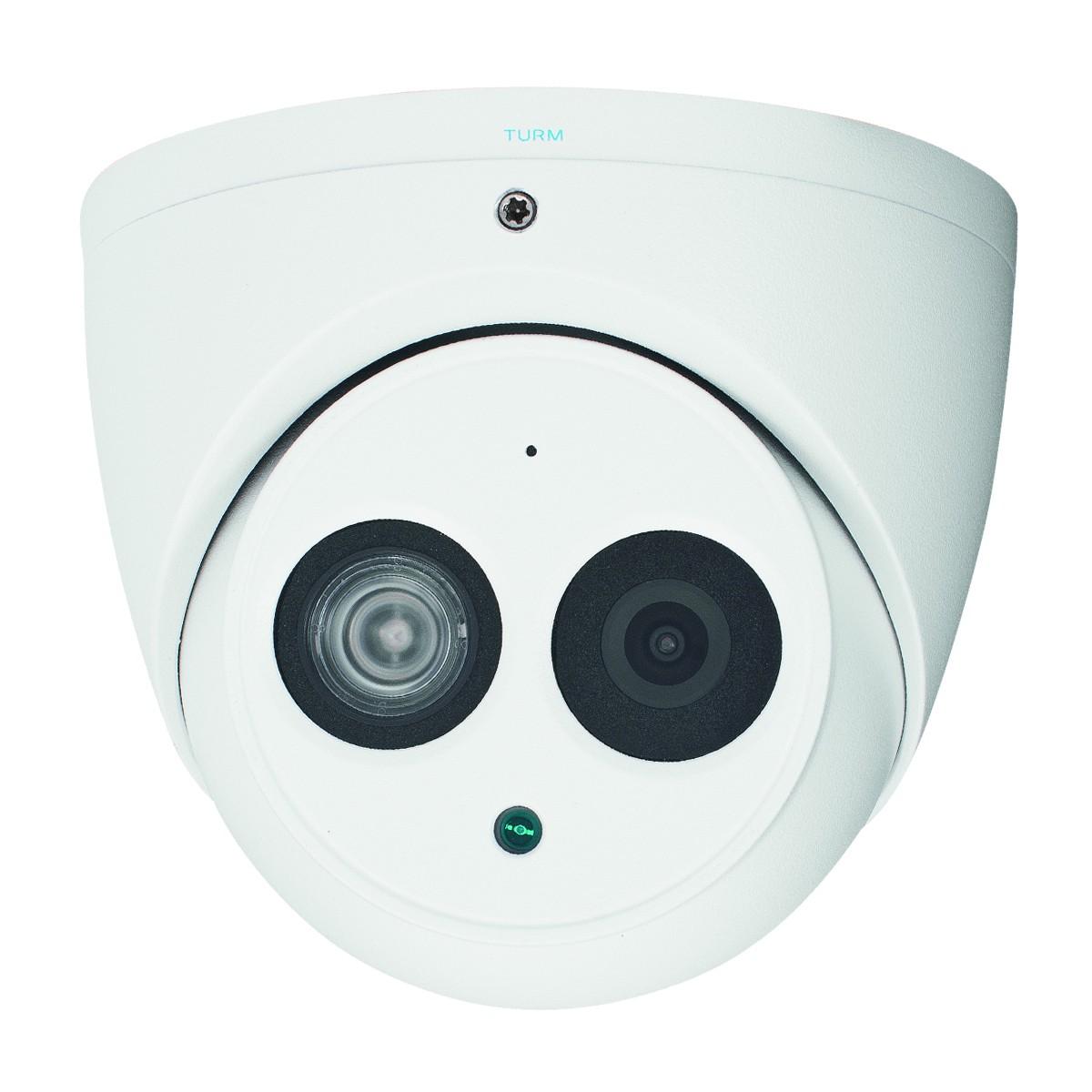 TURM IP Professional 4 MP Dome IP Kamera mit Mikrofon, 50m Nachtsicht,120dB WDR und H.265