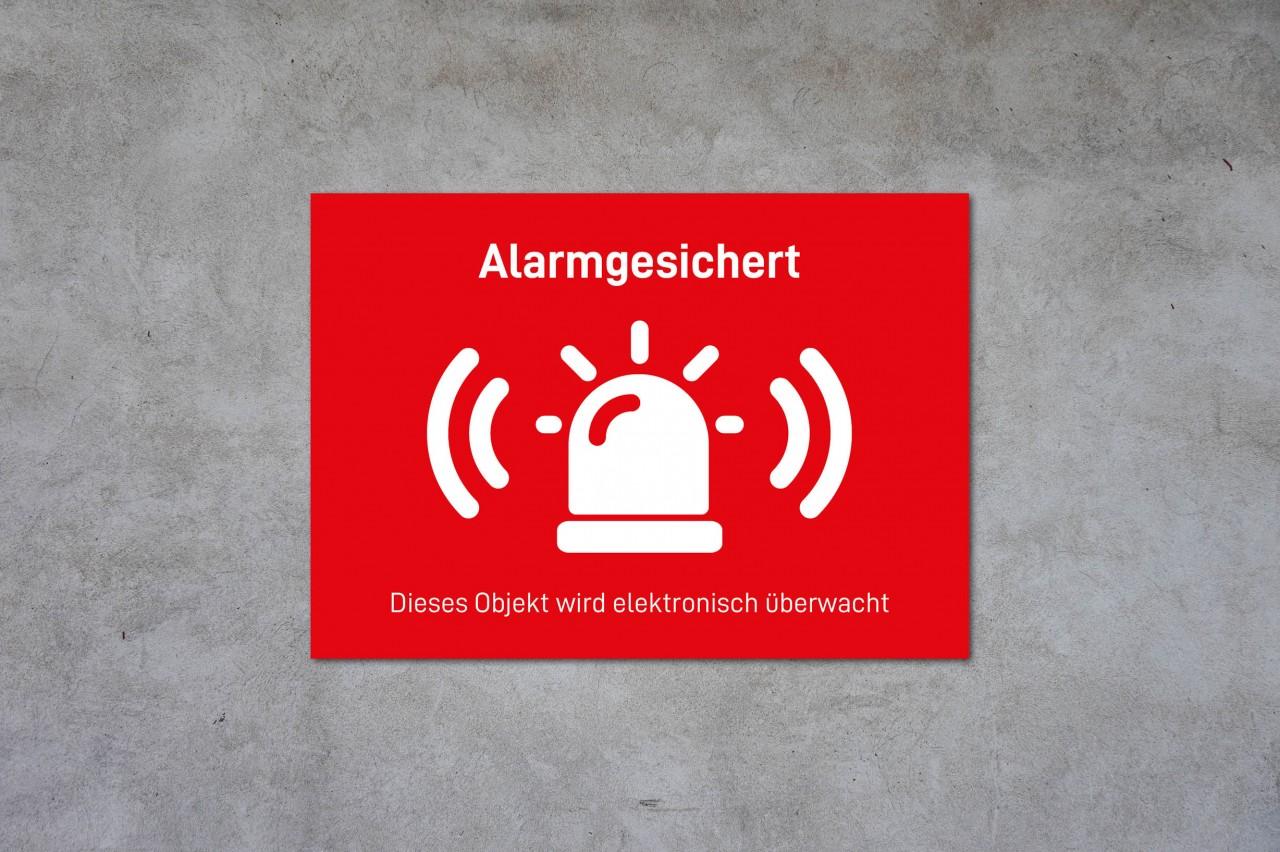 Alarmsicherung Hinweisschild