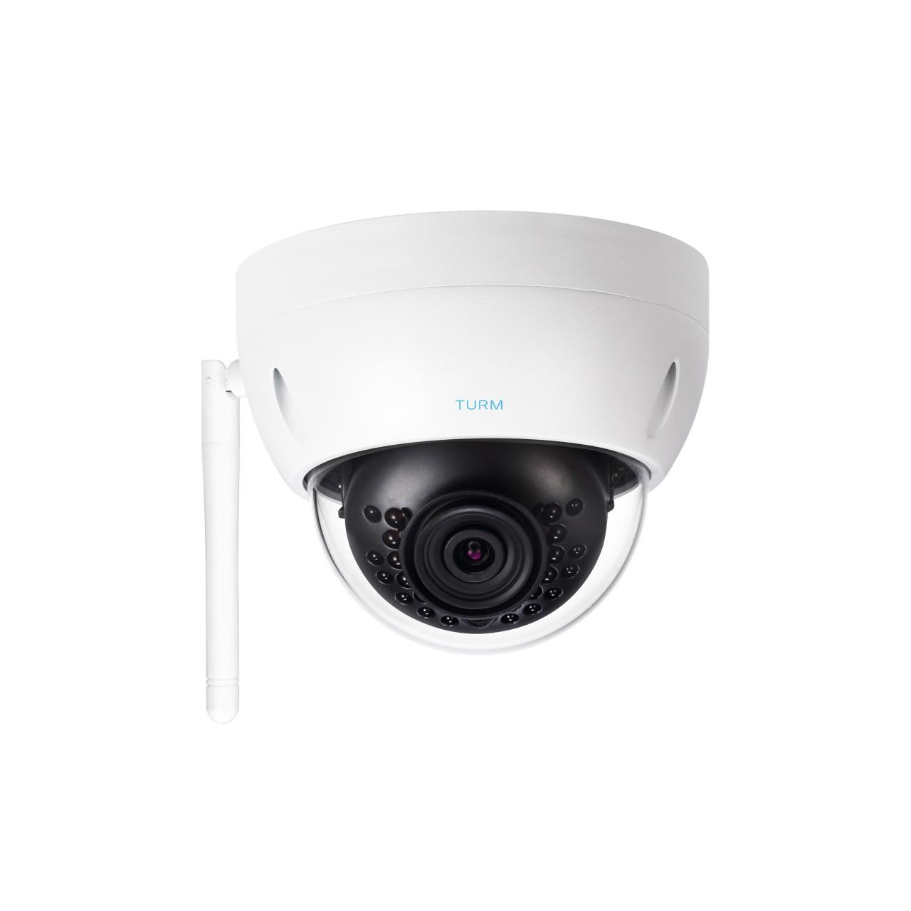 TURM WLAN 4 MP IP Dome Kamera mit 101°, 2.8mm, Micro SD Slot, 20m Nachtsicht, inkl. Netzteil
