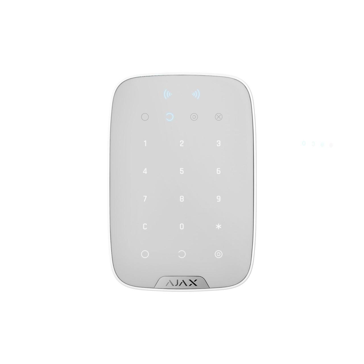 AJAX KeyPad Plus Bedienfeld mit Touch Tastatur, RFID, Weiß (HAN 26078)