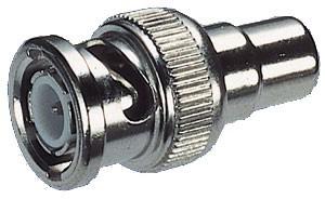 Adapter Stecker BNC-Stecker auf Cinch-Buchse
