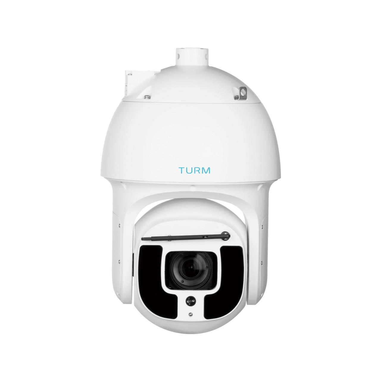 TURM IP Ultra 8 MP PTZ Kamera mit Auto Tracking, Smart Wiper, Intelligentem Videosystem, Starlight+,