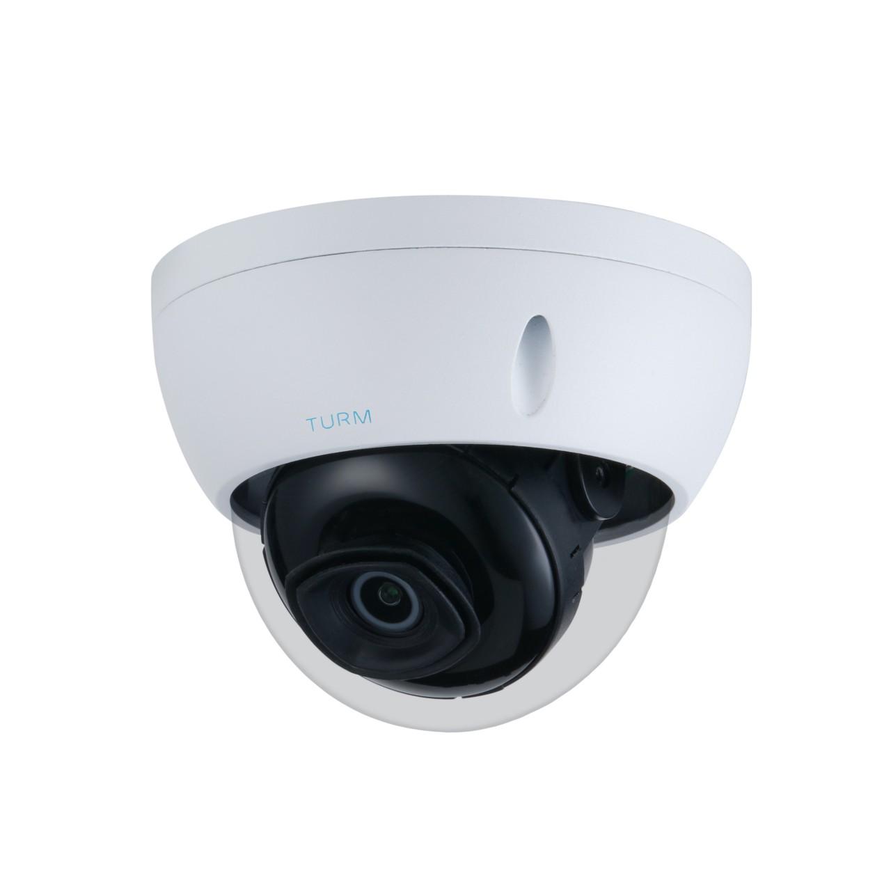 TURM IP Professional 8 MP Dome Kamera, 30m Nachtsicht mit Starlight, 2.8mm Objektiv, 105° Blickwinke