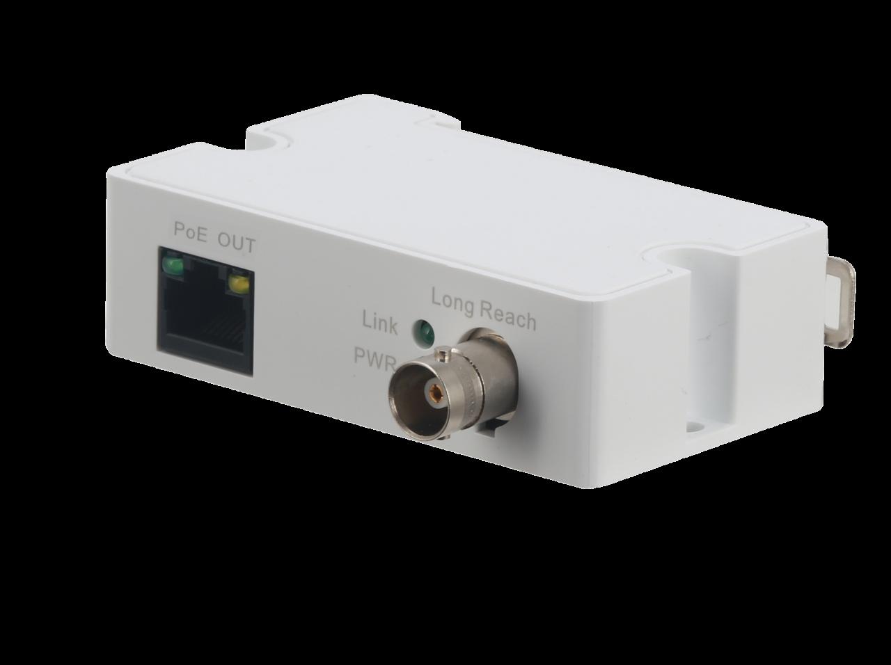 TURM EoC- Ethernet auf Koaxialkabel. Exttender inkl. Stromversorgung, BNC auf RJ45 (Kamera Seite)