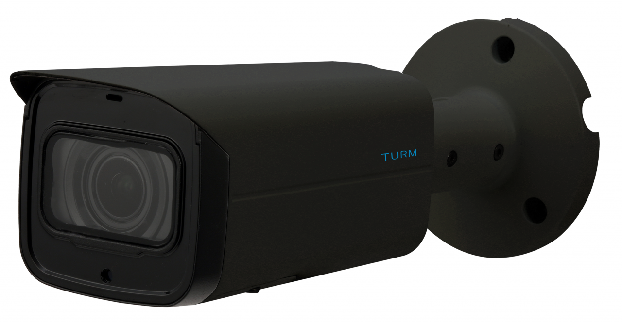 TURM HDCVI Professional 4.1 MP Bullet Kamera, 60m Nachtsicht, 2.7-13.5mm Motorzoom und WDR, schwarz